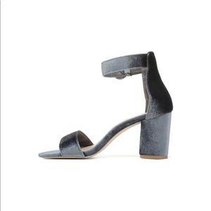 Free People Shoes - Public Desire Velvet Block Heel Sandal